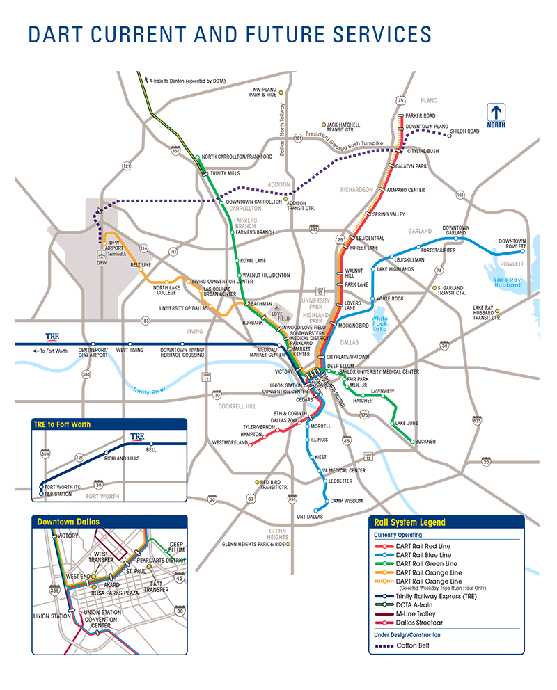 DART Current and Future Services Map