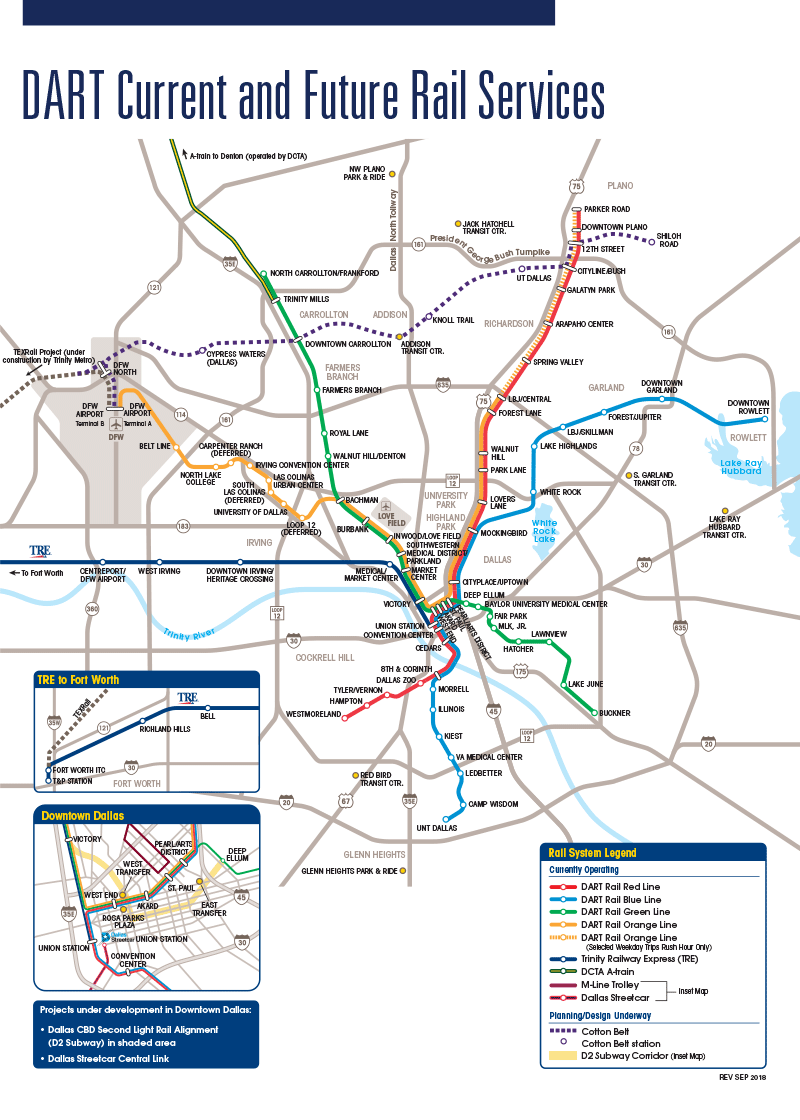 DART.  DART Current and Future Services Map