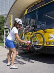 Image of a DART bus bike rack