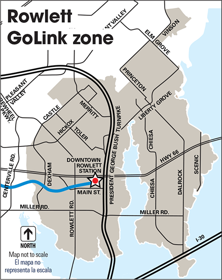 Rowlett GoLink zone map