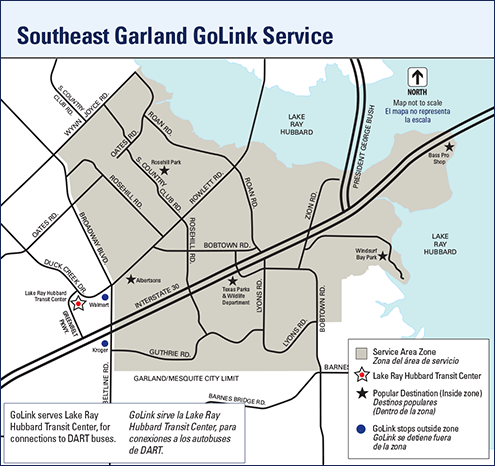 Southeast Garland GoLink zone map