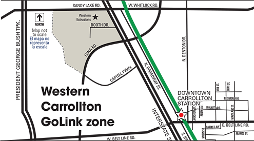 Western Carrollton GoLink zone map