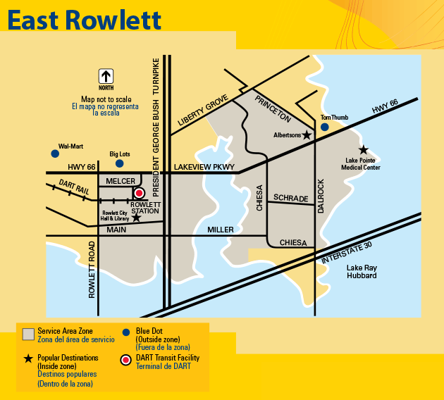 DART On-Call East Rowlett Map