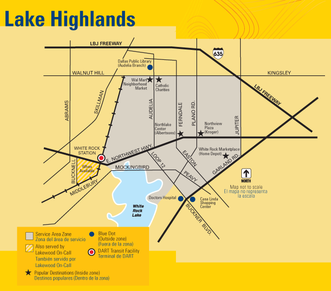 DART On-Call Lake Highlands Map
