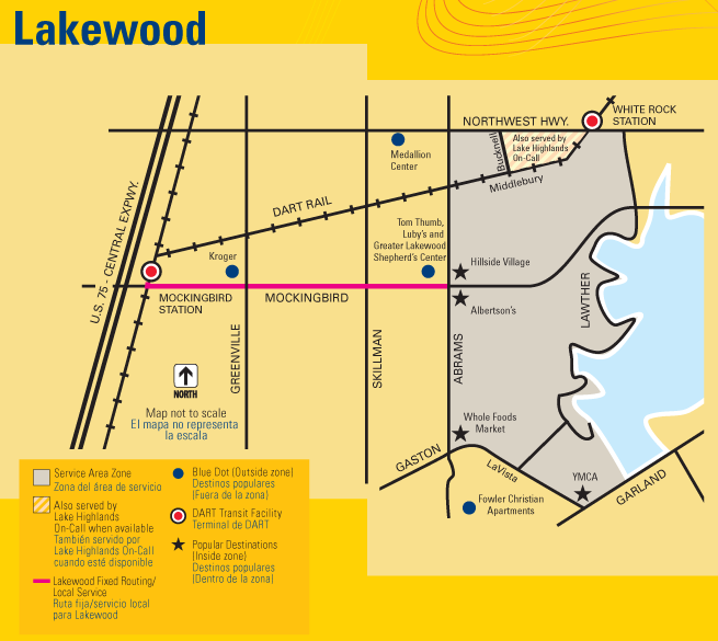DART On-Call Lakewood Map