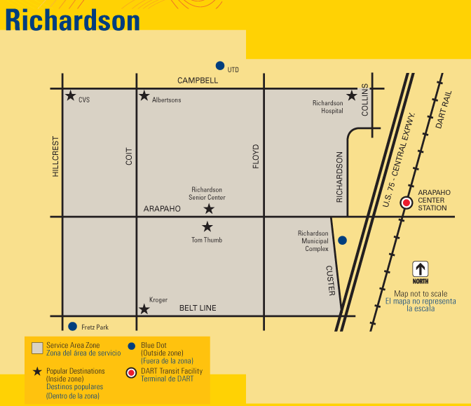 DART On-Call Richardson Map