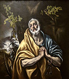 El Greco (Domenikos Theotokopoulos), (Greek, 1541–1614), <i>The Tears of Saint Peter</i>, 1580s. Oil on canvas. The Bowes Museum, Barnard Castle, County Durham, UK; B.M.642.