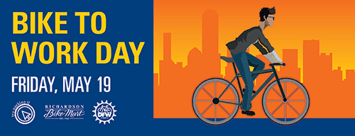 Bike to Work Day is Friday, May 19
