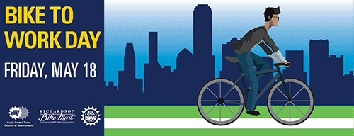 Bike to Work Day is Friday, May 18