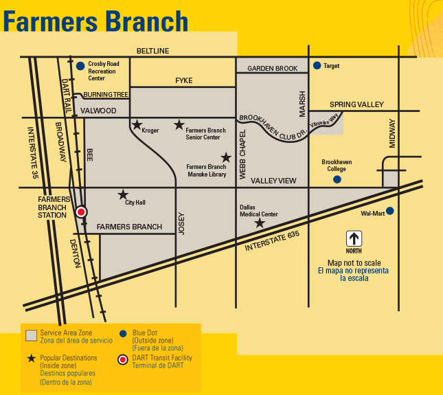 DART On-Call Farmers Branch Map