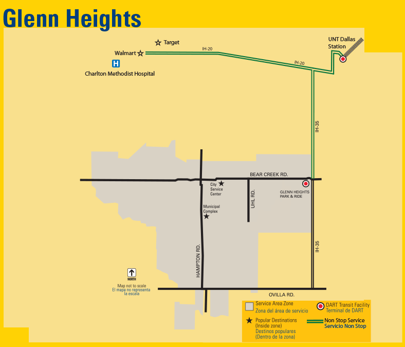 DART On-Call Glenn Heights Map