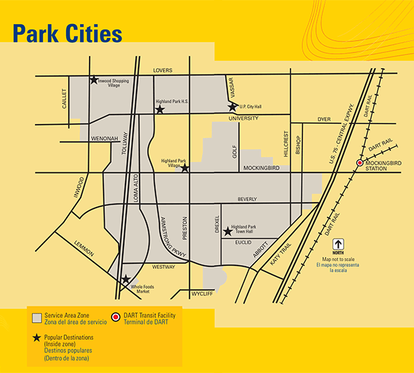 DART On-Call Park Cities Map