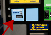 Ticket Vending Machine with Validator location highlighted