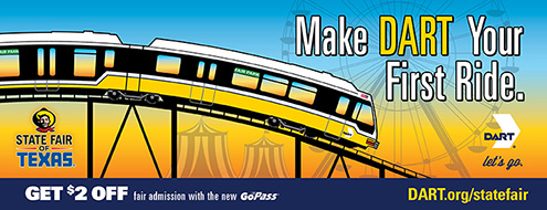 Click here to learn more about DART service to the State Fair of Texas