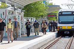 The DART Rail Blue Line extension to Downtown Rowlett Station opened December 3, 2012.