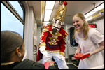 The Nutcracker and Clara ride on DART Rail