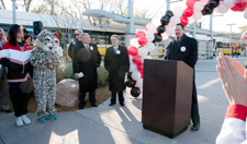 DART President/Executive Director Gary Thomas speaking at the Lake Highlands Station opening on Dec. 6