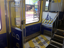 DART is also re-configuring the middle car (C-Car) on 10 light rail vehicles