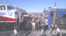 Golden Spike Ceremony at CentrePort/DFW Airport Station