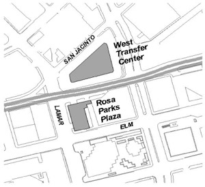Rosa Parks Plaza map