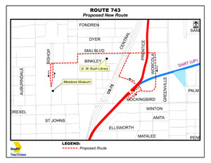 Route 743 effective May 1, 2013