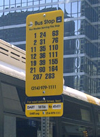 Bus Stop with Stop ID sign