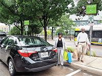 DART customers can rent a Zipcar to run errands and get their purchases home.