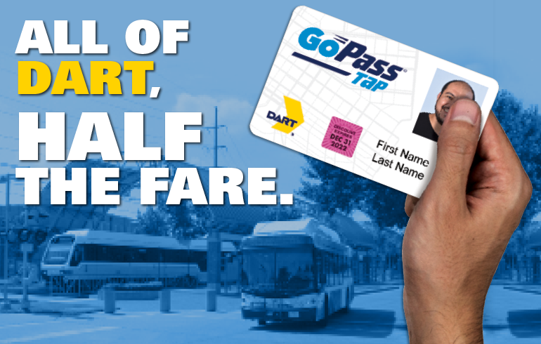 All of DART, Half the Fare.