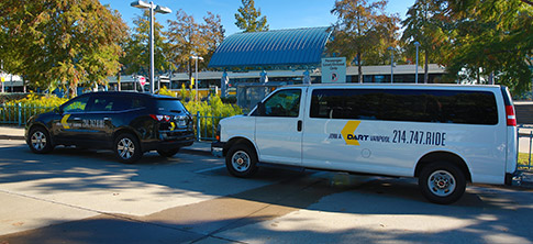 8-passenger and 15-passenger DART Vanpool vehicles