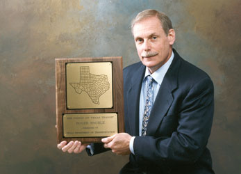 DART President/Executive Director Roger Snoble with the 1999 Friend of Texas Transit Award