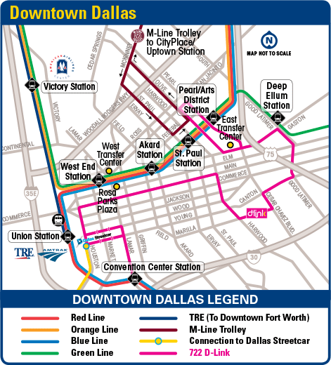 DART.  Downtown Dallas Maps
