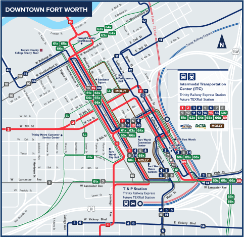 DART.org - Downtown Fort Worth Route Map