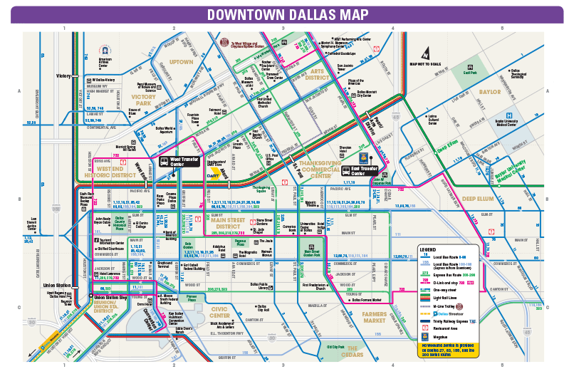 map of dallas downtown Dart Org 2017 Megafest Information map of dallas downtown