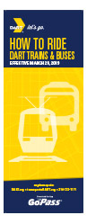 How to Ride DART Buses and Trains brochure cover